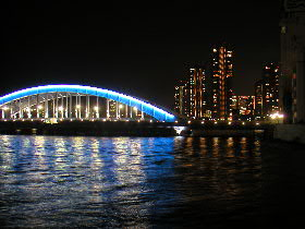 永代橋と佃島