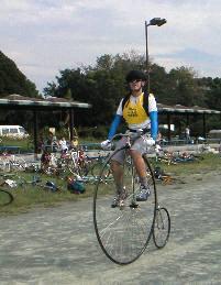 ダルマ自転車が走る